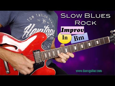 Slow Blues Rock Jam Bm - Gibson ES335 And Bias FX2