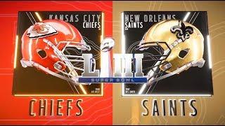 Alternate Super Bowl LIII Kansas City Chiefs vs New Orleans Saints