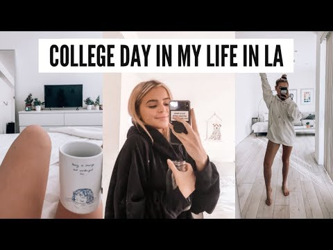 day in my life at college: what i bring to eat, my workout routine (FIDM Los Angeles)