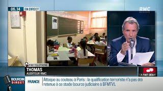 Langue arabe à l'école: échange tendu entre un auditeur et Jean-Jacques Bourdin