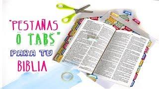 Como Y Para Que Colocar Pestañas O Tabs A Nuestra Biblia Youtube