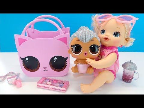 ОГРОМНАЯ СЕСТРИЧКА ЛОЛ ПОЯВИСЬ! Видео для детей Куклы Сюрпризы Игрушки 108мама тиви