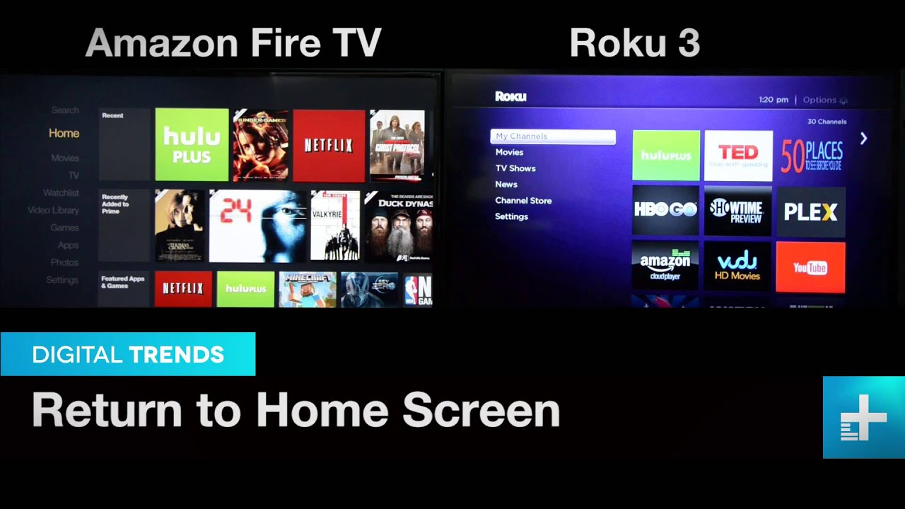 amazon fire tv vs roku 3 youtube. Black Bedroom Furniture Sets. Home Design Ideas