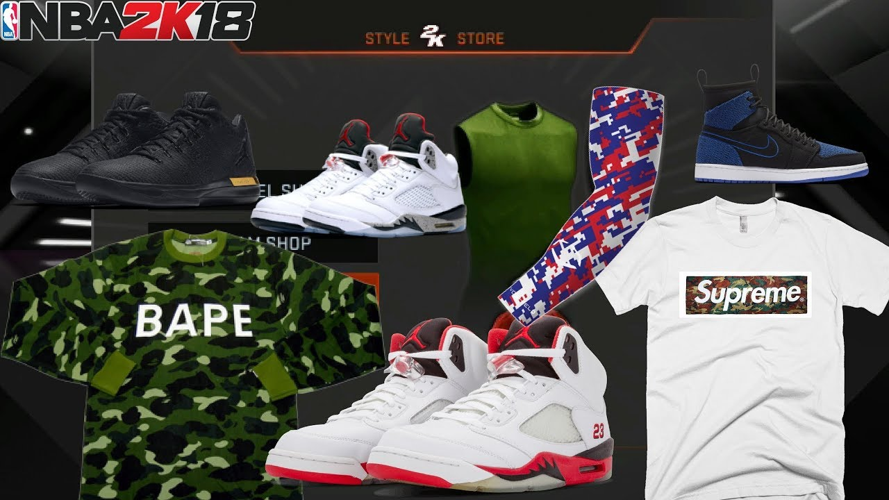 NBA 2K18 XBOX 360/PS3 (LAST GEN) | CLOTHES , SHOES COLLECTION AND GEARS