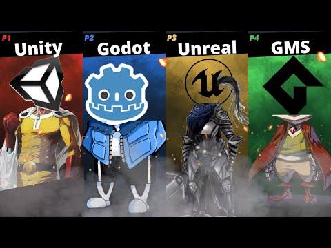 Best Game Engine: Battleroyale! (Unity vs Godot vs Unreal vs GMS2)