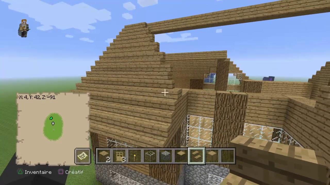 Tuto pour construire une belle maison en bois minecraft part 4 youtube - Belle maison a construire ...