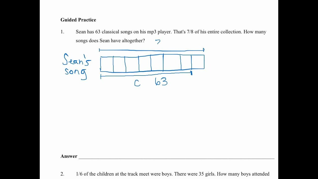 hight resolution of Fraction Word Problems (video lessons