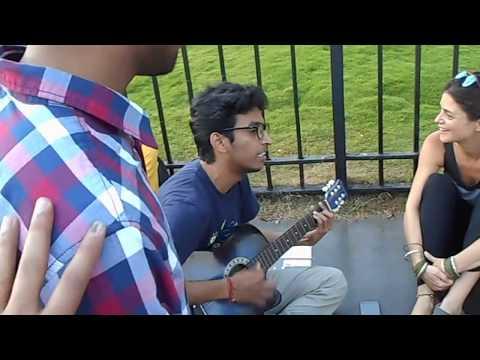 Playing Guitar with Foreigners at Gateway of India in Mumbai   Mumbai Trip