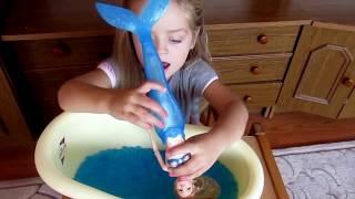 Ванна з орбізами купаємо русалку Ванна с орбизамы купаем русалку