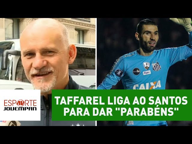 "Moral! Taffarel liga ao Santos para dar ""parabéns"" a Vanderlei"