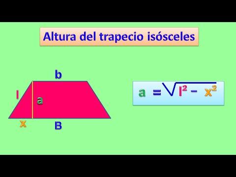 Hallar la altura del trapecio isósceles - YouTube