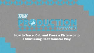 How to Trace, Cut, and Press a Picture onto a Shirt using Heat Transfer Vinyl