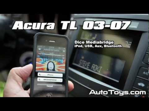 Acura TL IPOD USB BLUETOOTH Aux Android, by Dice Mediabridge A-MBR-1500-HON and AutoToys.com