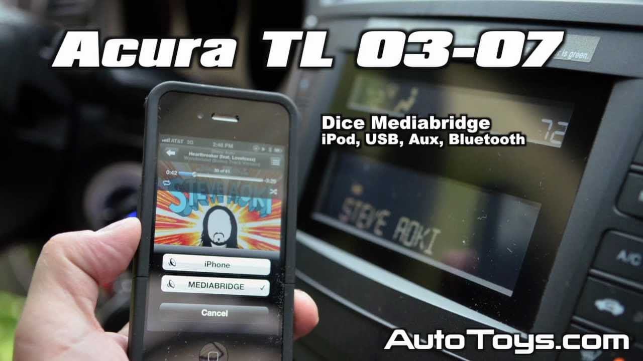Acura TL IPOD USB BLUETOOTH Aux Android By Dice Mediabridge AMBR - 2004 acura tl aux input