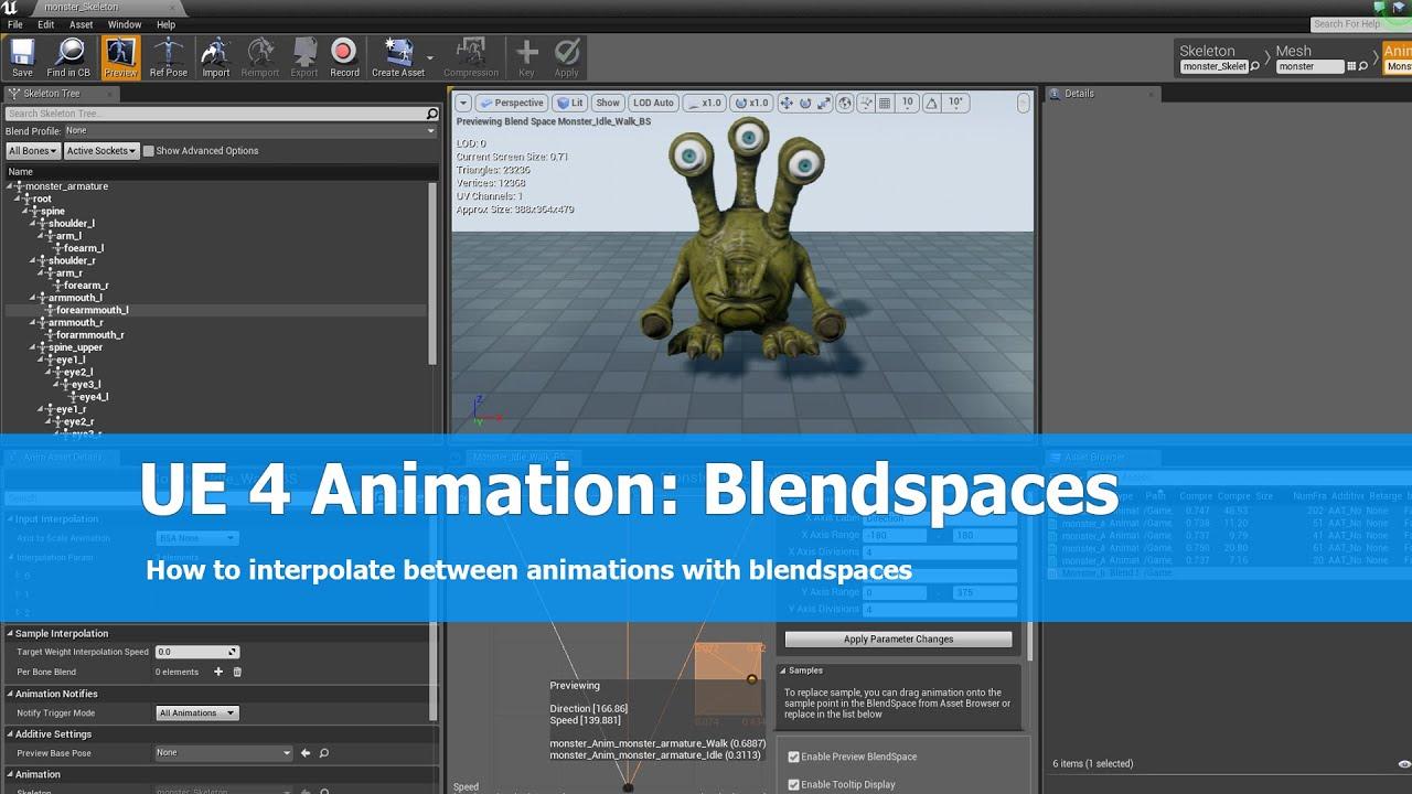 Ue4 animation tutorial blendspace youtube malvernweather Choice Image