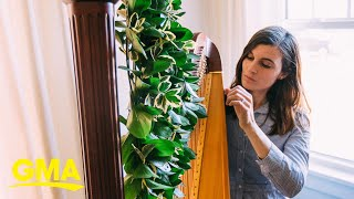Seattle hospital musician plays her harp and 'magic flows' l GMA Digital