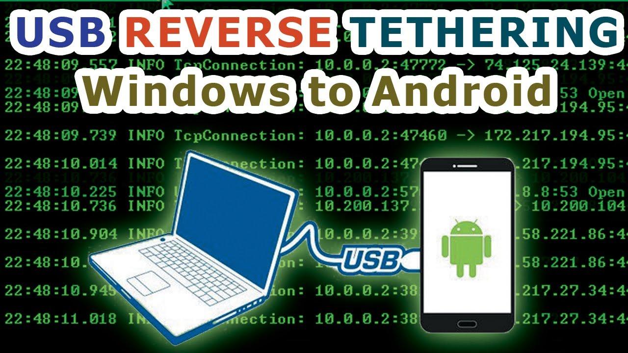 Reverse Tethering USB dari Windows ke Android