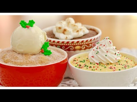 3 Christmas Mug Cookies for Two | Gemma's Bigger Bolder Baking