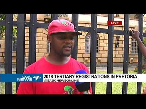 2018 tertiary registrations in Pretoria