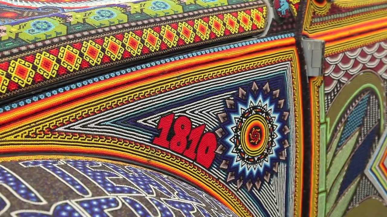 Vochol Huichol Art on Wheels  YouTube