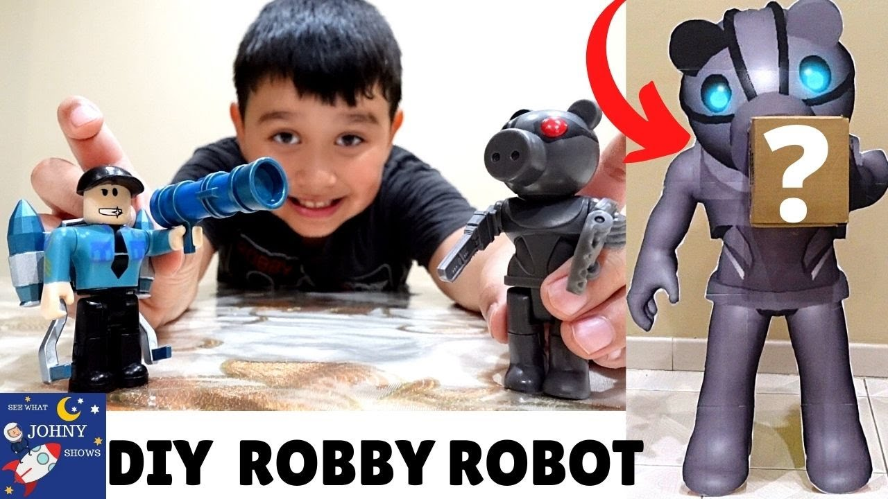 DIY Piggy Robby Robot In Real Life Delivers Johny A NEW Series 2 Robby Figurine