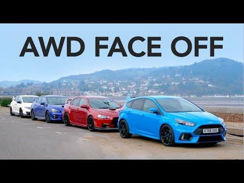 Ford Focus RS vs Subaru WRX STi vs Evo X FQ400