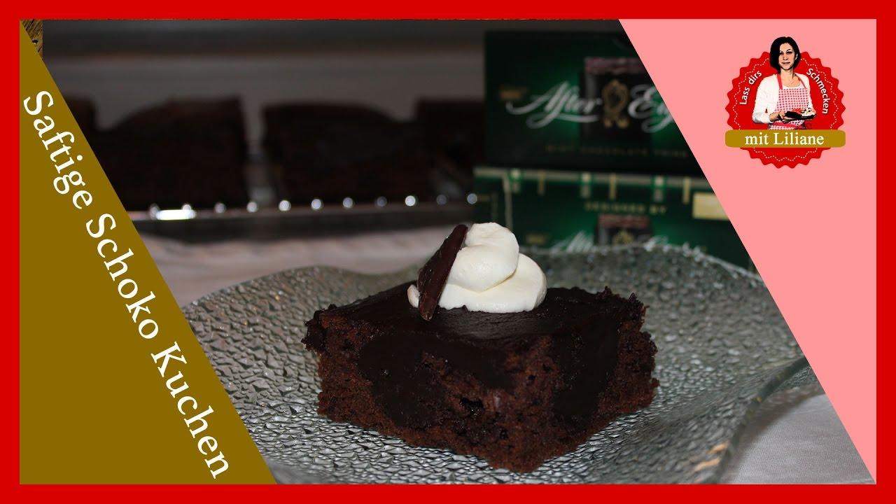 Saftiger Schoko Kuchen After Eight Youtube