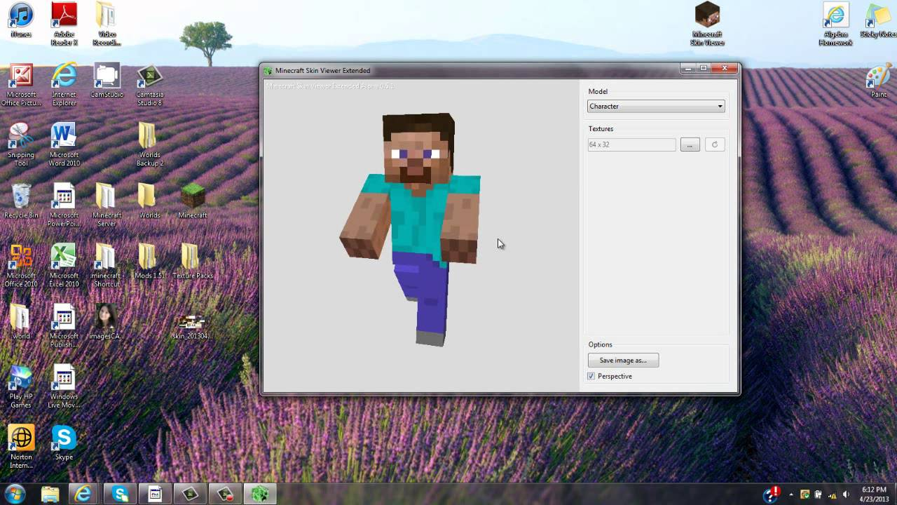 Minecraft Skin Viewer EXTENDED - Create and Pose Minecraft Mods + Steve in  12D!