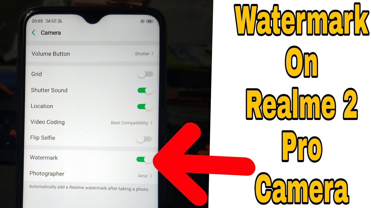 How To Enable Watermark On Realme 2 Pro Camera   Realme 2 Pro Tips & Tricks