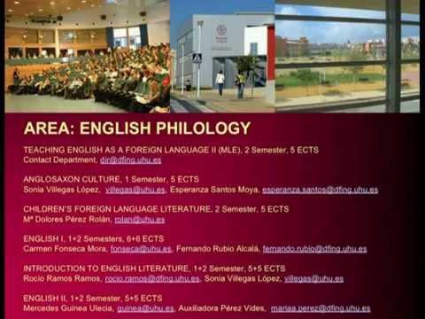subjets in english universidad de huelva youtube