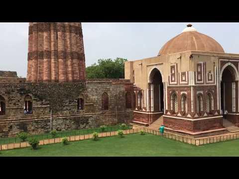 Visit Qutb Minar, Iron Pillar, Alai Minar in Qutb Complex Delhi India