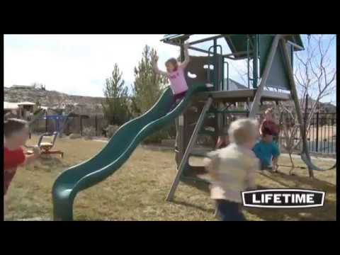 Lifetime Heavy-Duty Metal Playset With Clubhouse - Earthtone (90042) - KitSuperStore.com