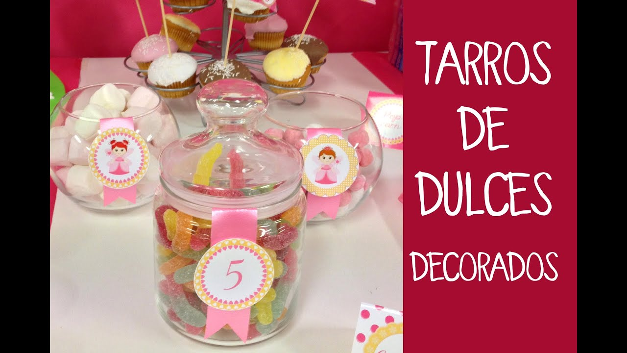 decoracin de fiestas infantiles decoracin de botes de cristal para dulces youtube