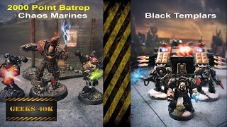 Black Legion Vs Black Templars Warhammer 40k 7th Edition Battle Report