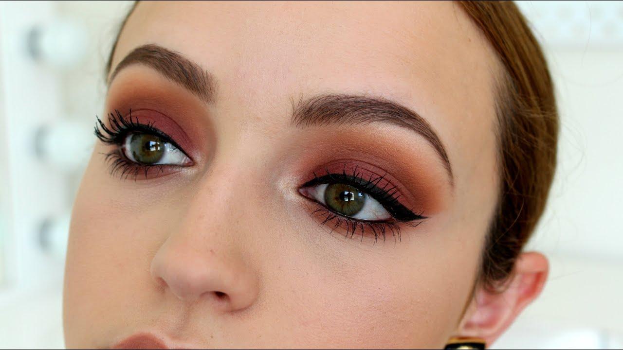 Sunset Bitten Eyes Makeup Tutorial Youtube