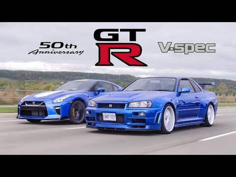 2020 Nissan GTR 50th Anniversary Edition vs R34 Skyline GTR V-Spec - Meet Your Heroes