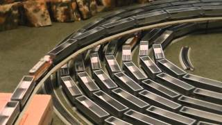 The spiral with Ho Scale 241cars 9 engines