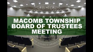 Board of Trustees Meeting May 22, 2019