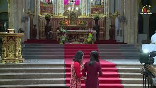 Trực Tiếp Thánh Lễ Hôn Phối Anh Dom.Nguyễn V. Lũy  KD Chị Têrêsa Ngô T.V Nga Tại Đền Thánh Bác Trạch