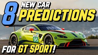 8 New CAR PREDICTIONS for GT SPORT!