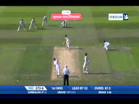 Stuart Broad test hat-trick England vs India 2011 [HQ]