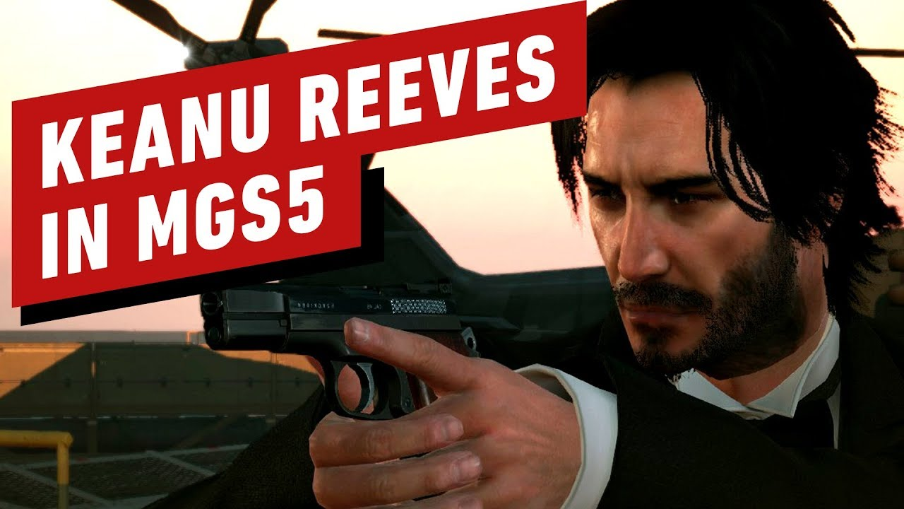 Keanu Reeves in Metal Gear Solid 5 Mod + video