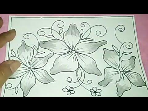 Cara Menggambar Batik Motif Bunga 56 Youtube