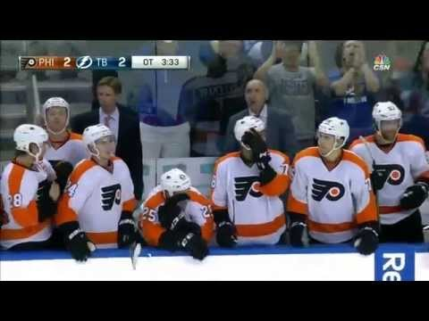 Penalty Shot Giroux and Laughton vs Bishop (Flyers vs Tampa)