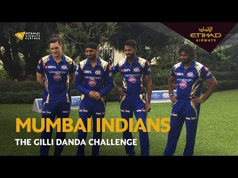 The Gilli Danda Challenge with Mumbai Indians | Etihad Airways