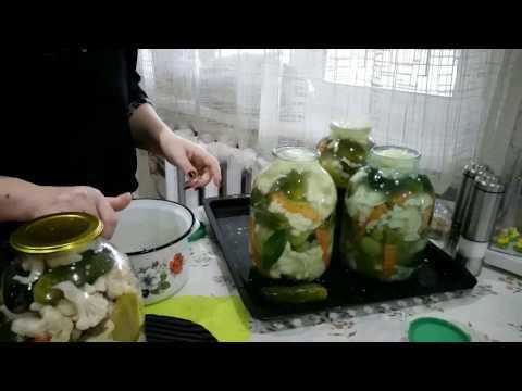 ԽԱՌԸ ԹԹՈՒ ԾԱՂԿԱԿԱՂԱՄԲՈՎ-Овощное ассорти. заготовки на зиму-Pickled Veggies Recipe