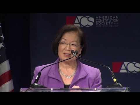 Sen. Mazie Hirono on Judicial Nominations - ACS 2017 National Convention