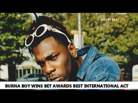 Burna Boy Wins BET Awards Best International Act