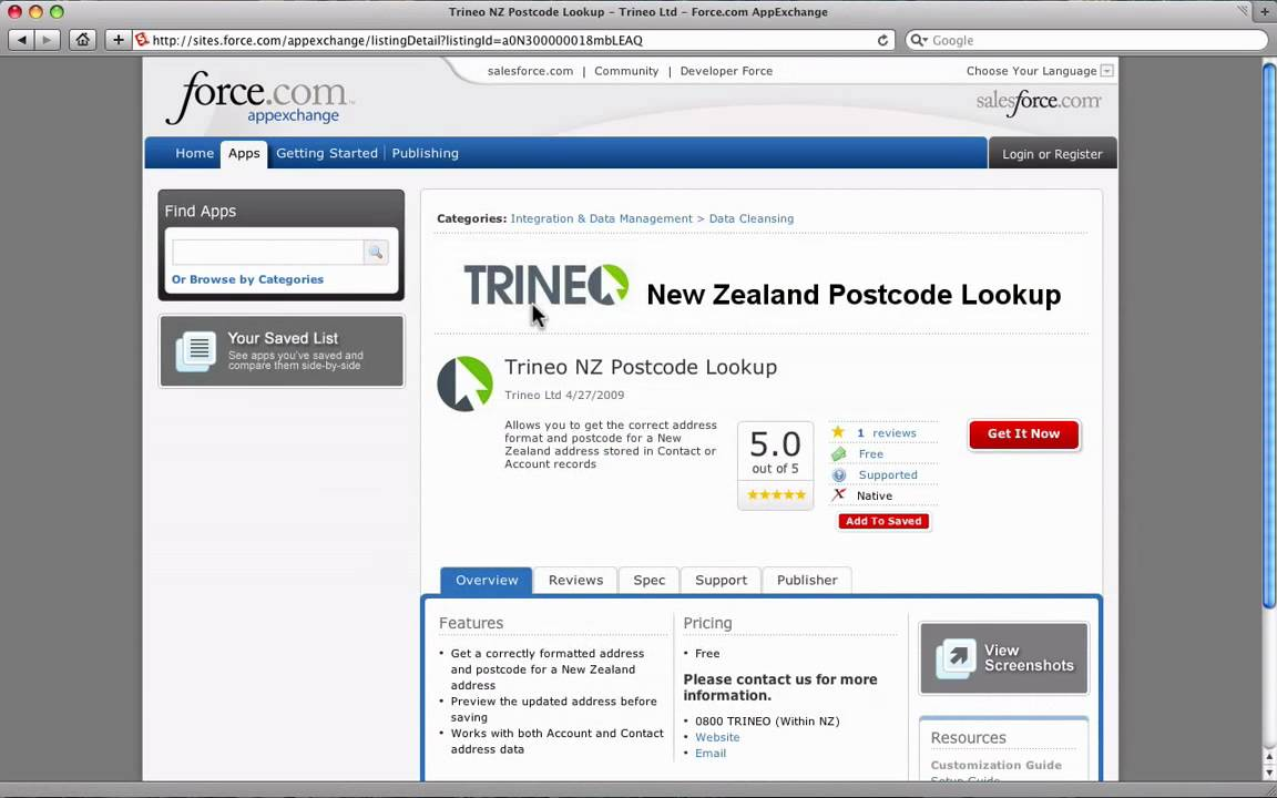 Trineo New Zealand Postcode Lookup