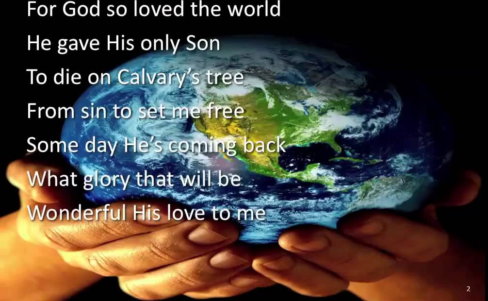 For God so Loved the World ~ Alfred B. Smith ~ lyric video - YouTube